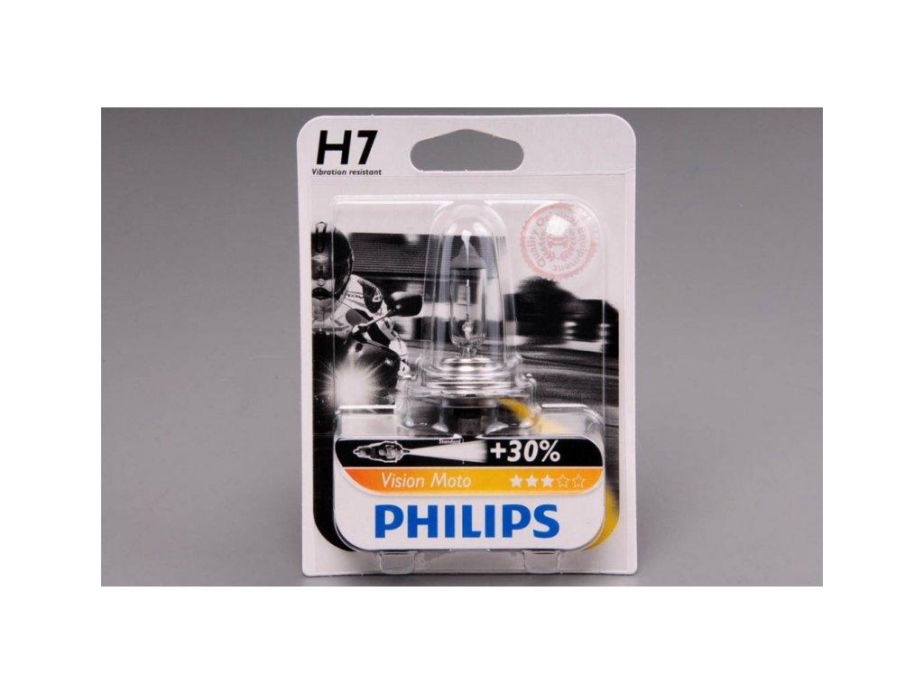 blistr H7 12V 55W PX26d Vision Moto +30% PHILIPS