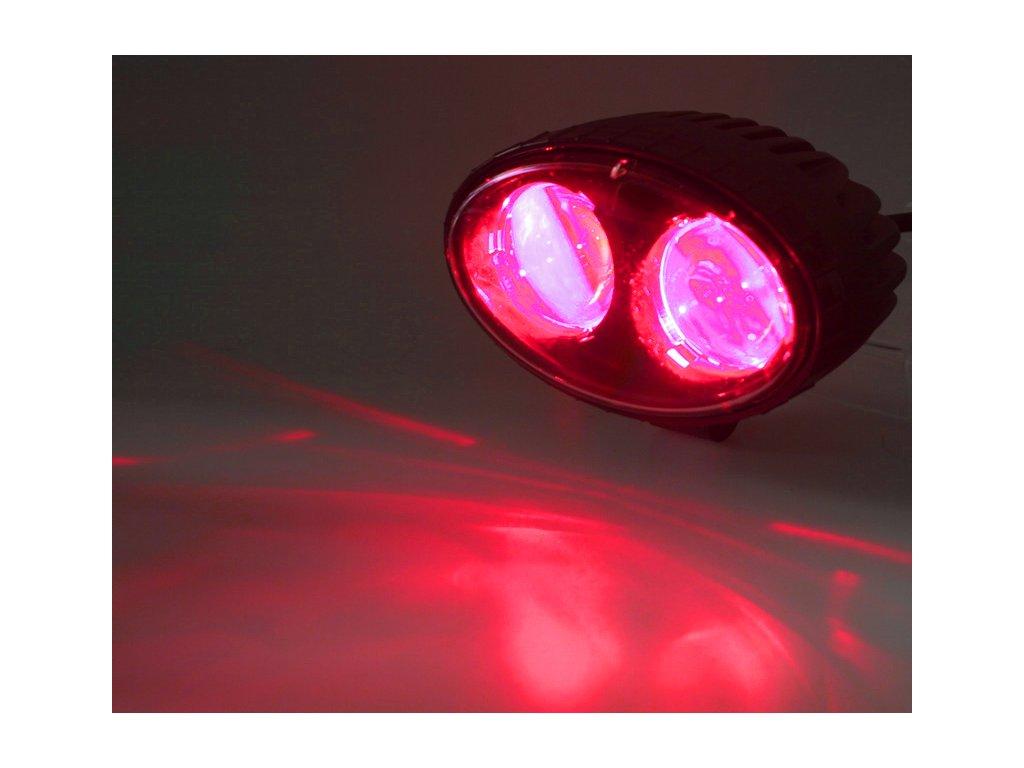PROFI LED výstražné bodové světlo 10-48V 2x4W červené 143x122mm