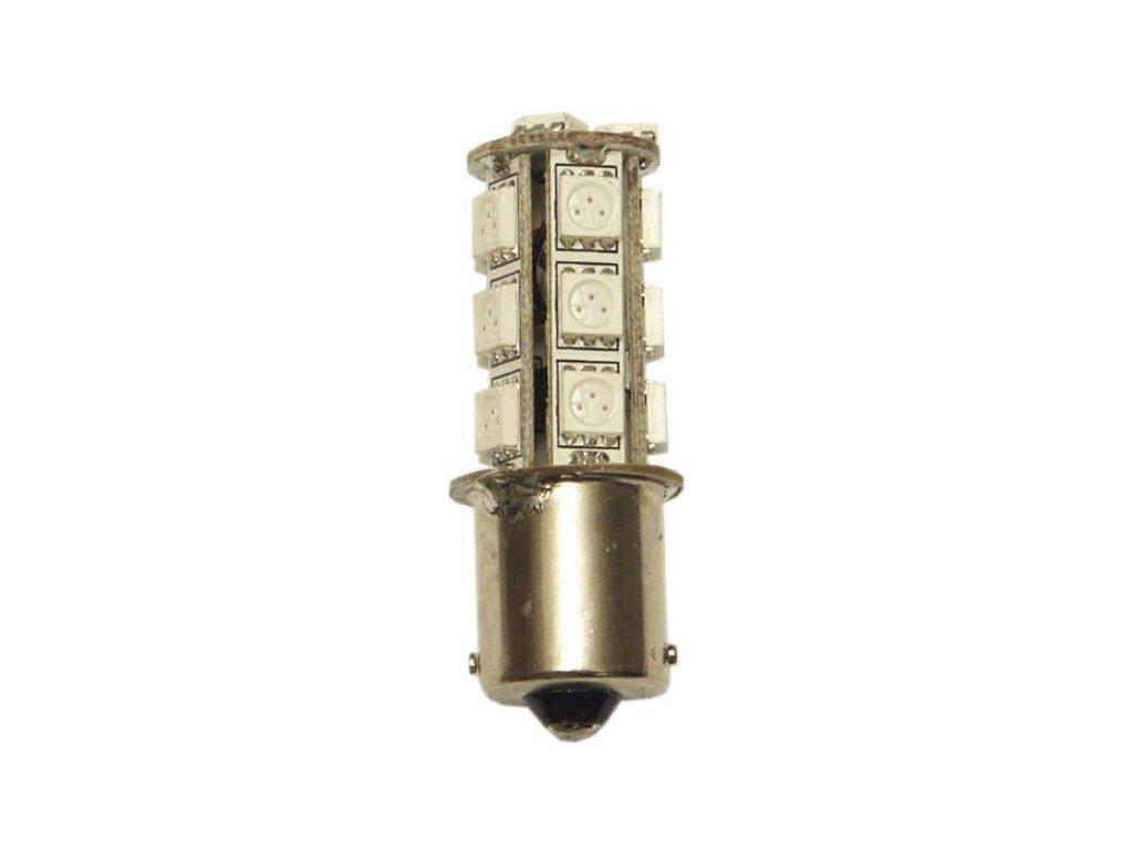 žárovka LED 12V-24V 21W BA15s červená