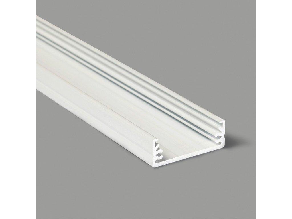 Profil pro moduly LED přisazené bílá L: 1m hliník