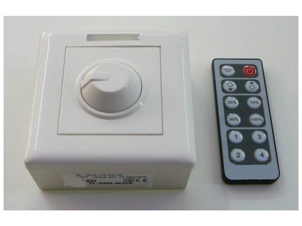 LED ovladač stmívač M3 IR - TL-DIM-M3-IR stmívač s ovladačem