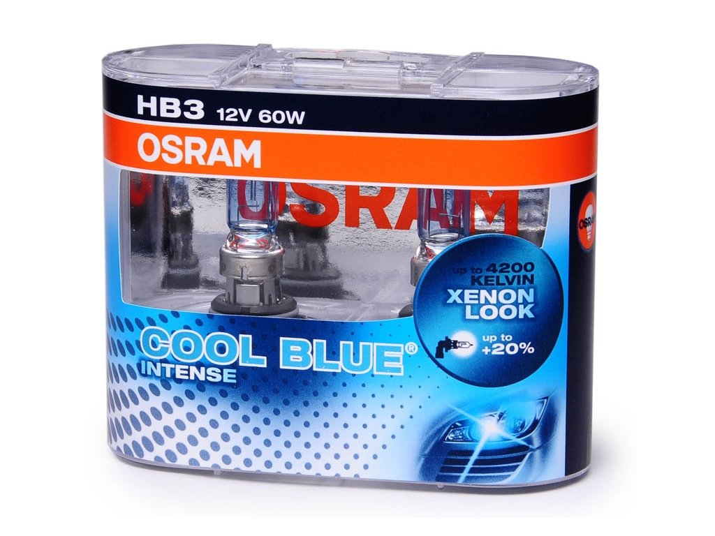 krabička HB3 12V 60W P20d9005 COOL BLUE Intense 2ks