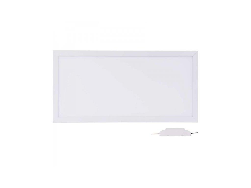 LED panel 30×60, obdélníkový vestavný bílý, 18W neutrální b.