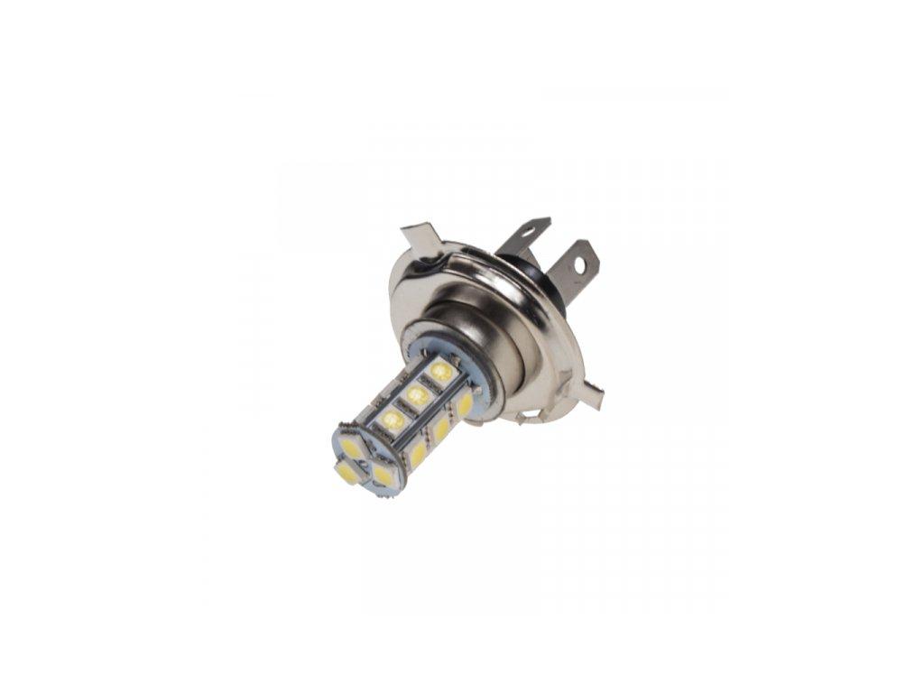 LED žárovka 12V s paticí H4 18LED/3SMD