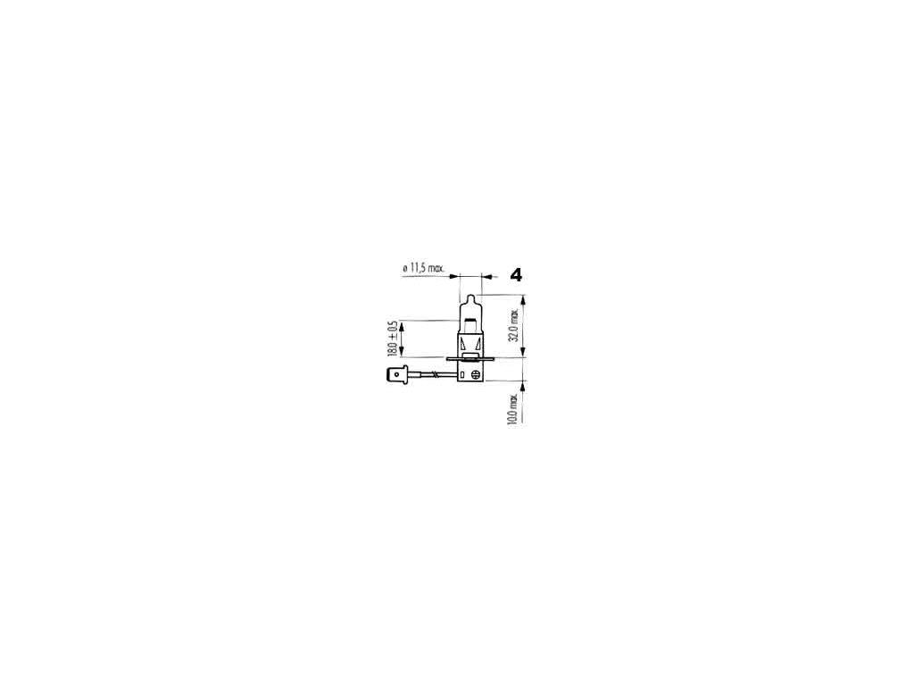 žárovka H3 12V 35W PK22s