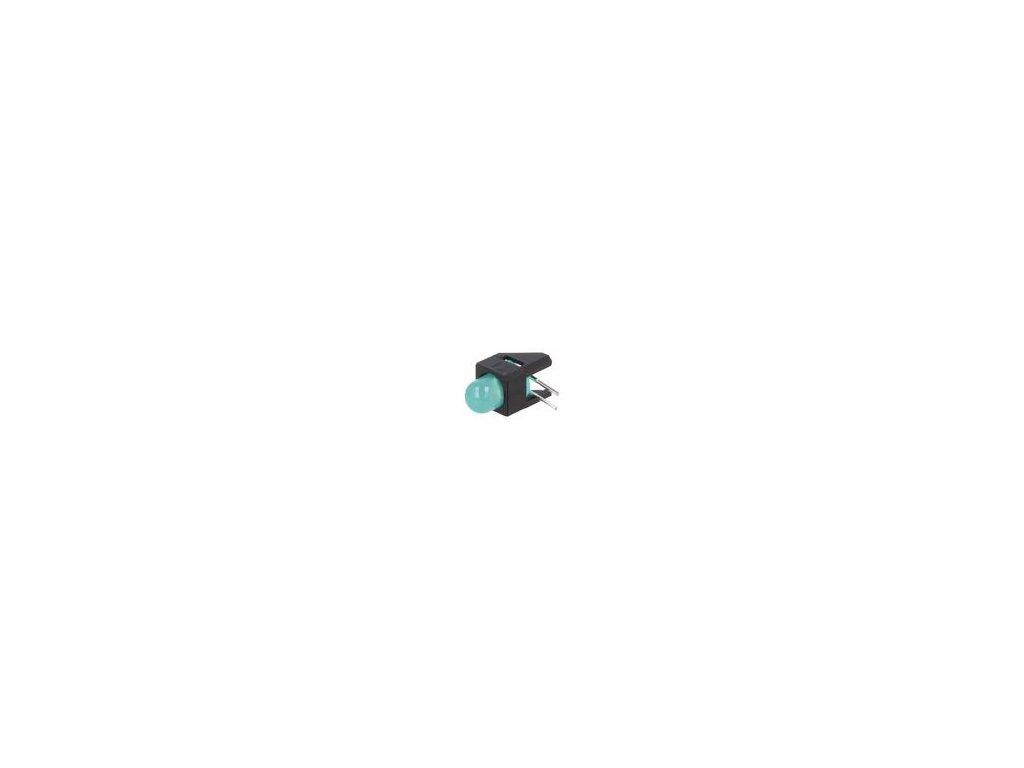 LED zakrytovaný zelená 5mm Poč.diod: 1 2mA 50° 1,9÷2,2V