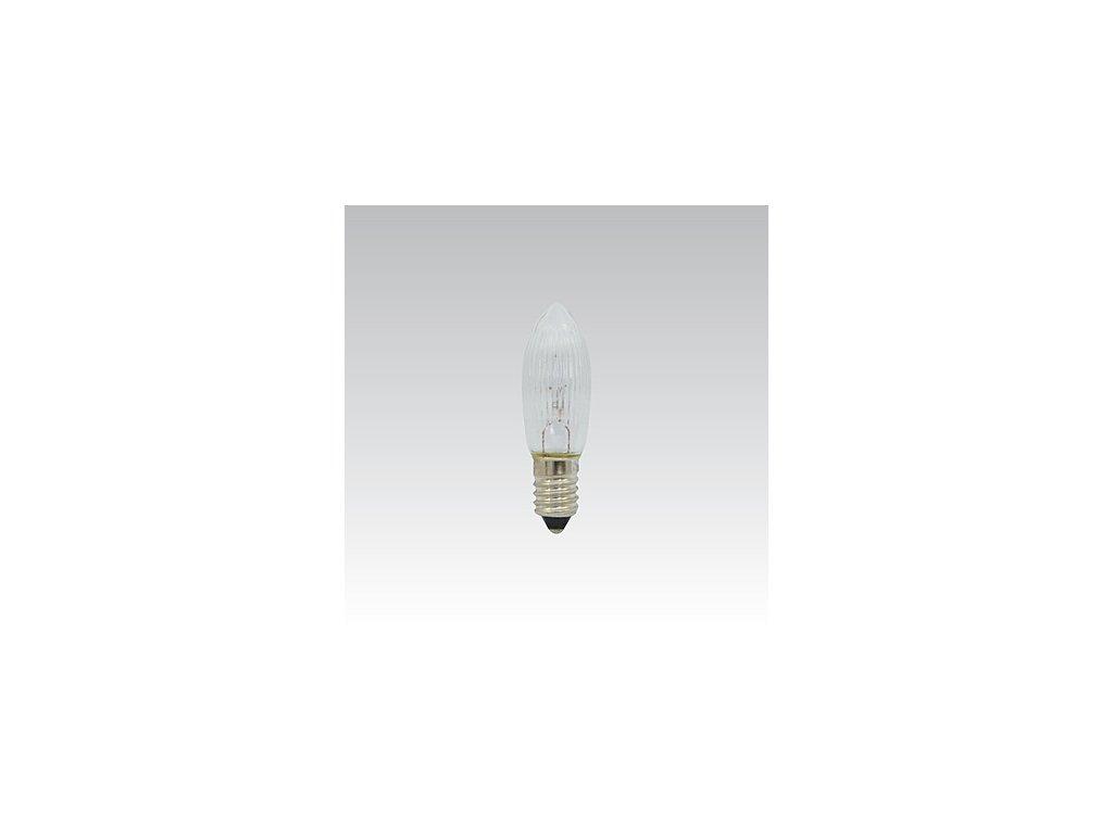 Žárovka 34V 3W E10 C13 vánoční čirá