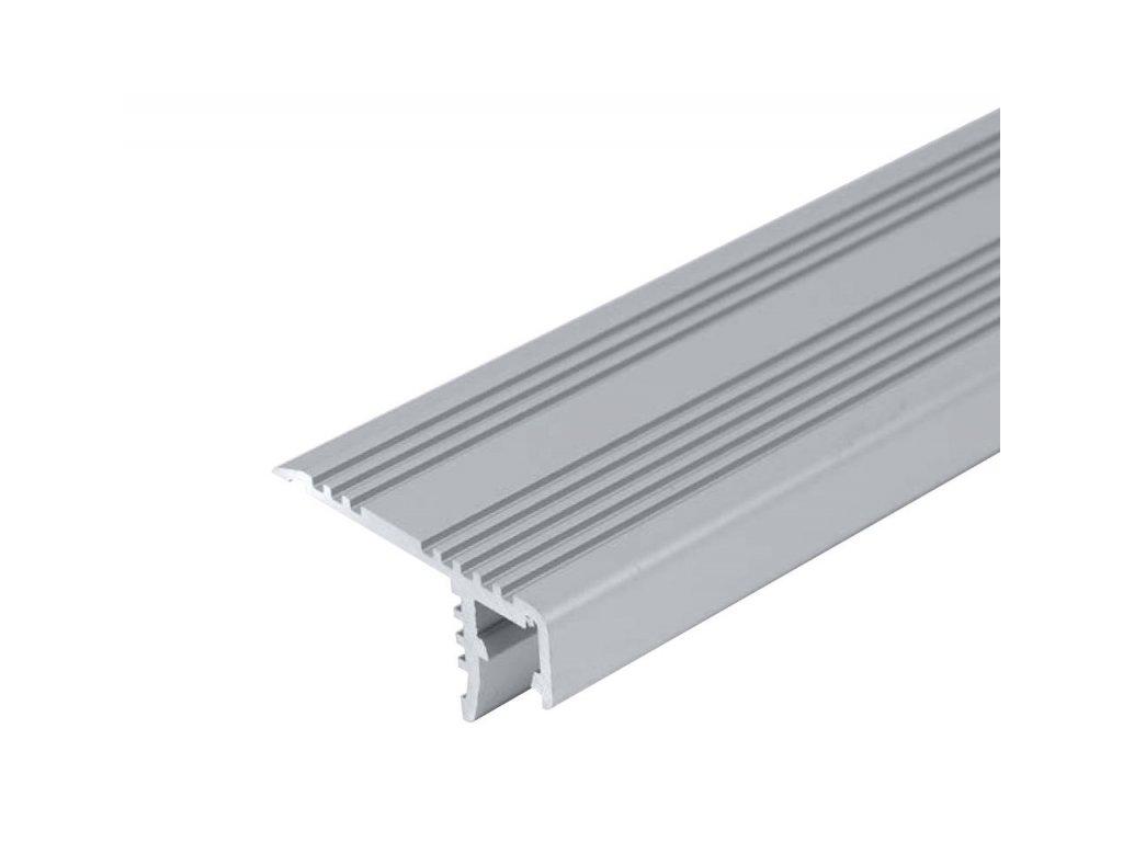 LED profil ST schodišťový - Profil bez krytu 1m