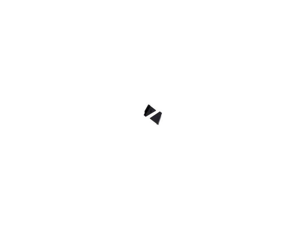 Záslepka pro LED  profily černá ABS Určení: CORNER27