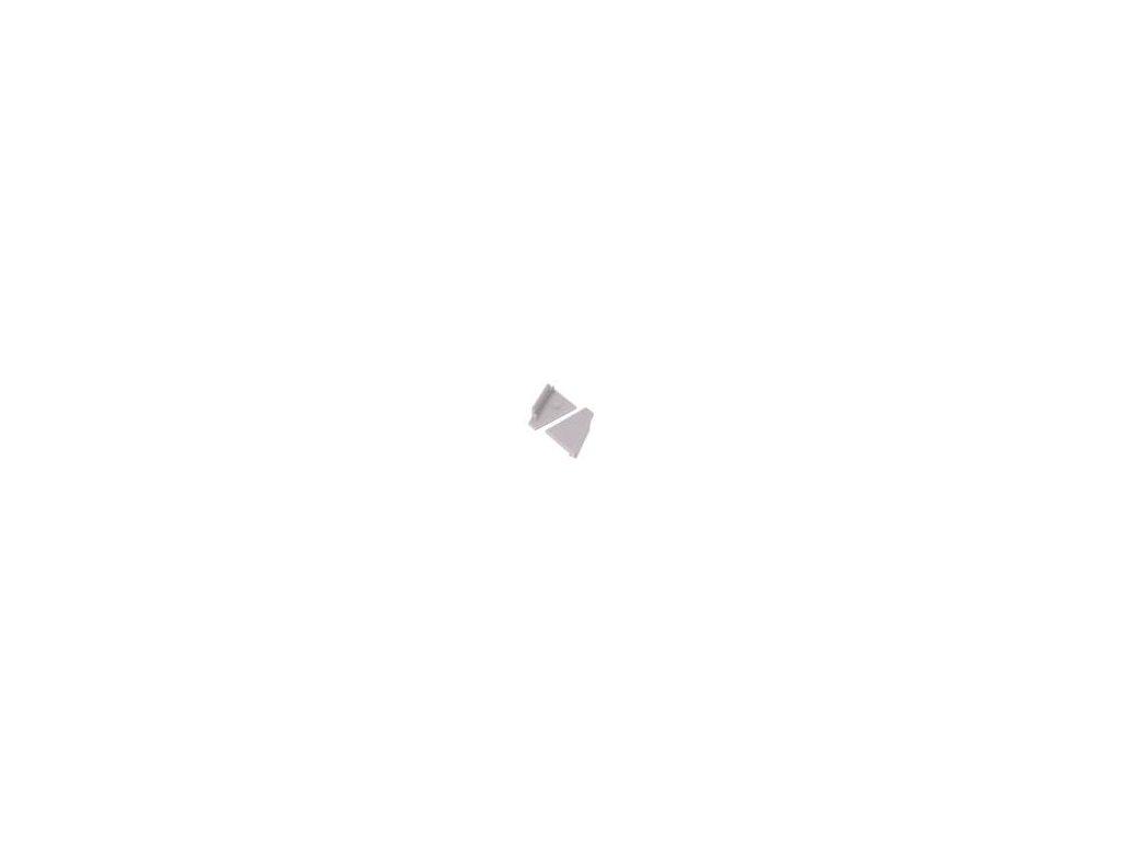 Záslepka pro LED  profily šedá ABS Určení: CORNER27