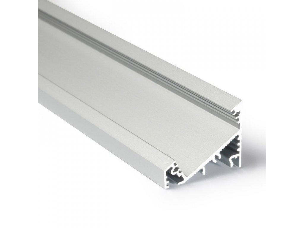 Profil pro moduly LED úhlové přírodní L: 2m hliník eloxované
