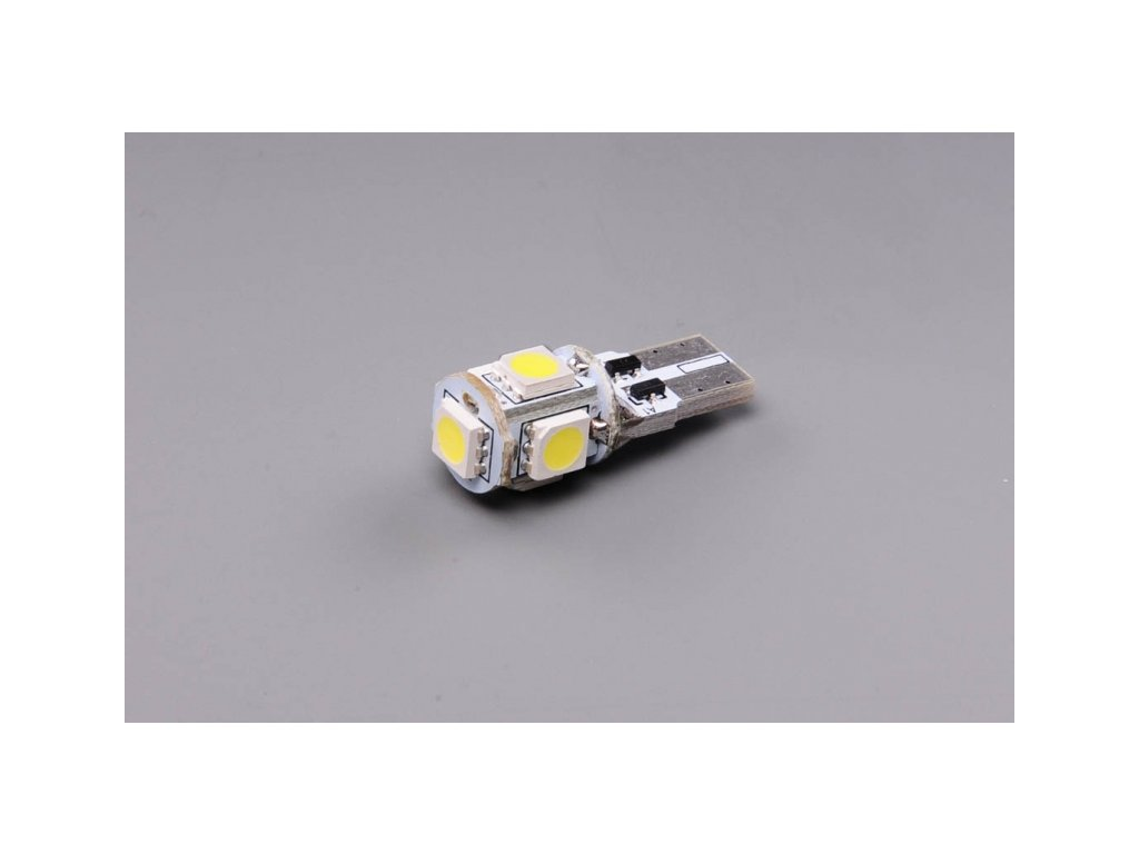 žárovka LED 12V 5W W2,1x9,5d čirá s eliminací chybových hlášení CANBUS nepolarizovaná