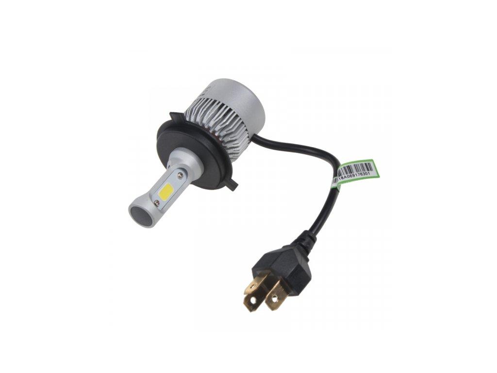 COB LED žárovky H4 bílá, 9-32V, 8000LM, IP65
