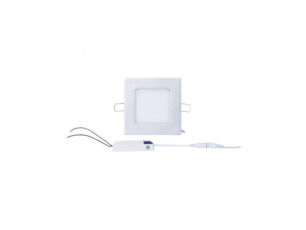 LED vestavné svítidlo, čtverec 6W, neutrální bílá IP20