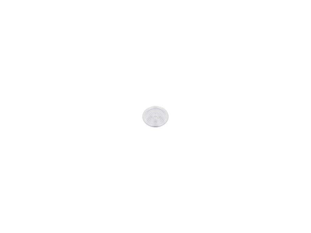Čočka LED kulatý Mat: plexisklo PMMA průhledná H: 23,6mm