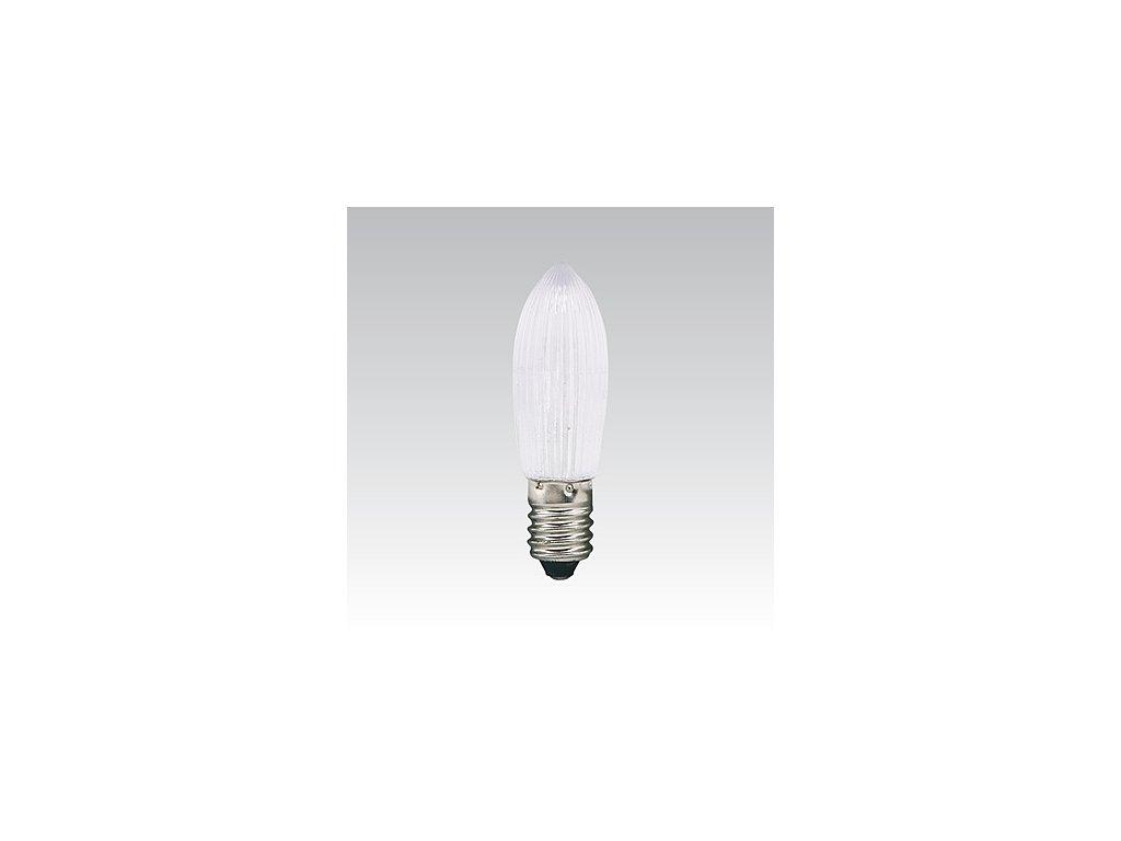 LED Žárovka vánoční E10 14V-55V červená