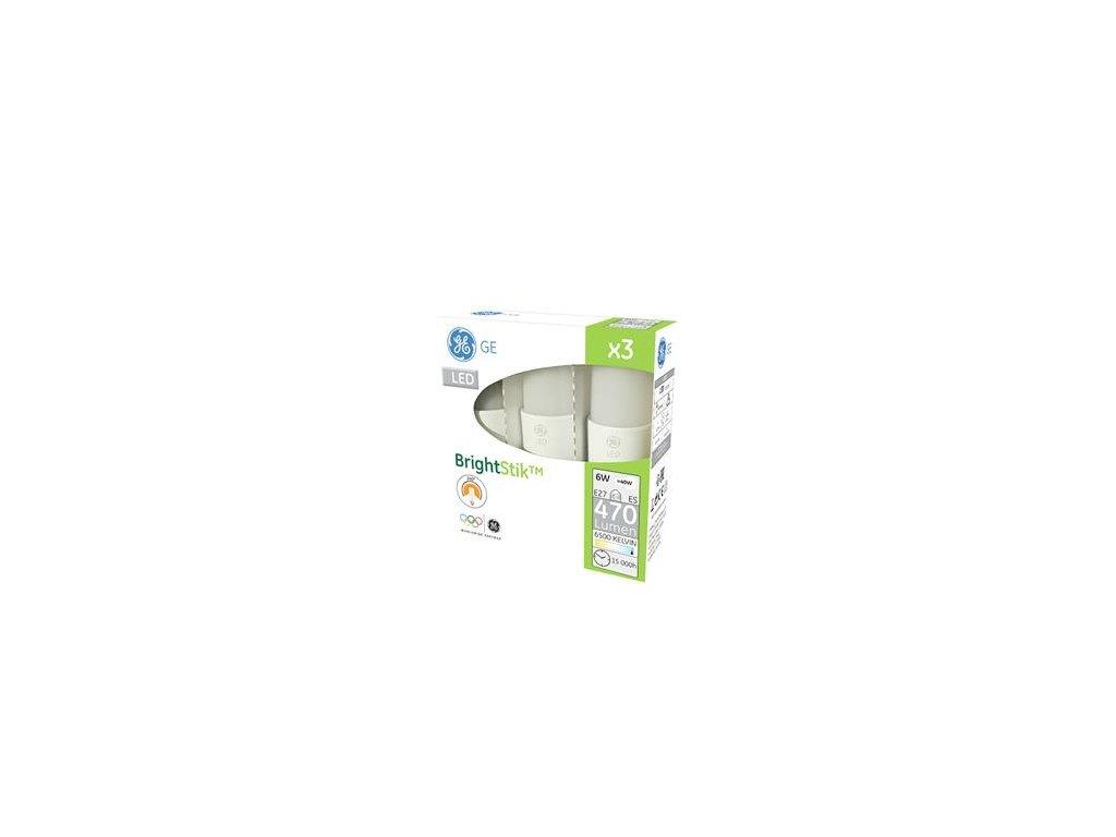 LED žárovka GE LED6 STIK 865 100-240 E27/F 3ks v balení