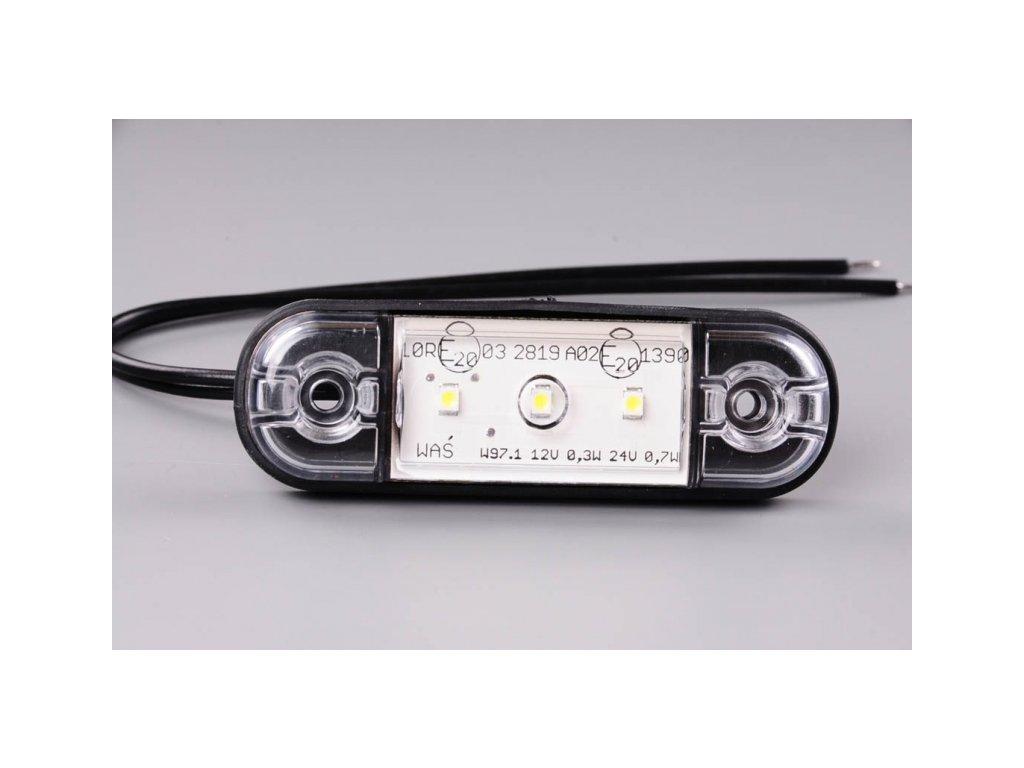 světlo poziční W97 LED 12+24V bílé