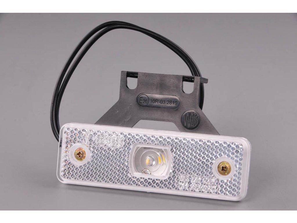 světlo poziční W44 (219Z) bílé LED 12V+24V + držák