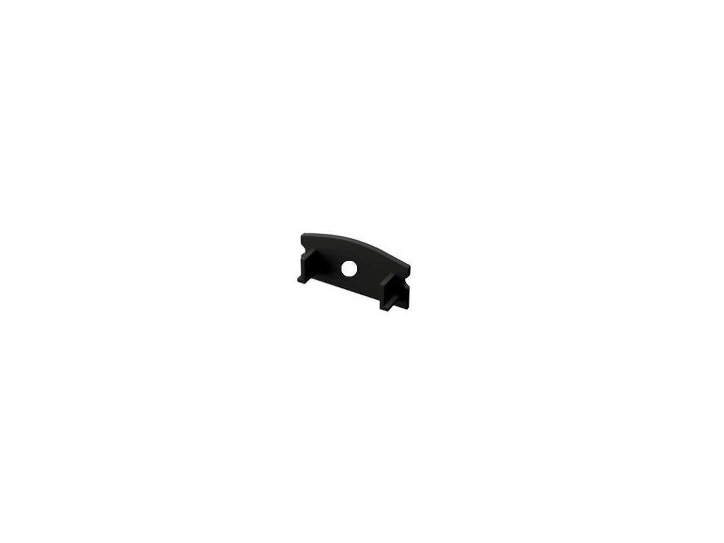 Záslepka s otvorem PVC SURFACE 1 BLACK k Alu lištám pro LED pásky