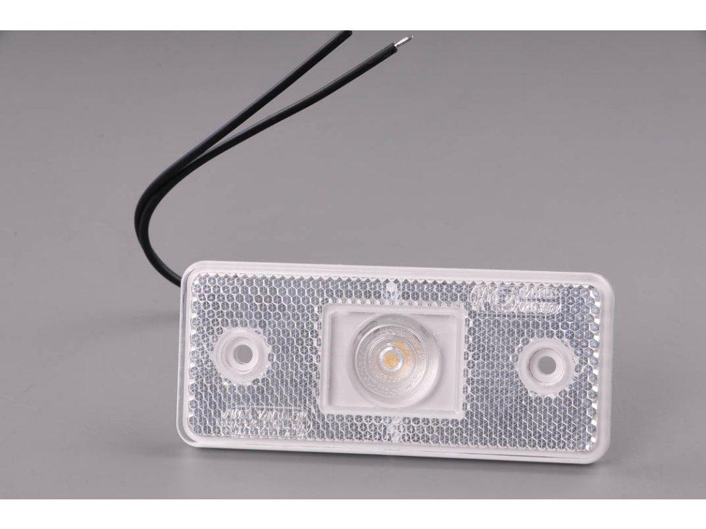 světlo poziční W17D (105P) bílé LED 12V+24V