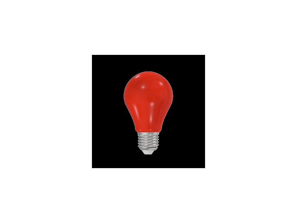 LED žárovka A60 230-240V 1W COLOURMAX E27 ČERVENÁ