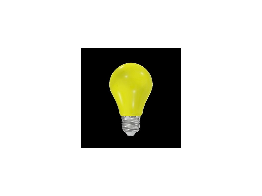LED žárovka A60 230-240V 1W COLOURMAX E27 ŽLUTÁ