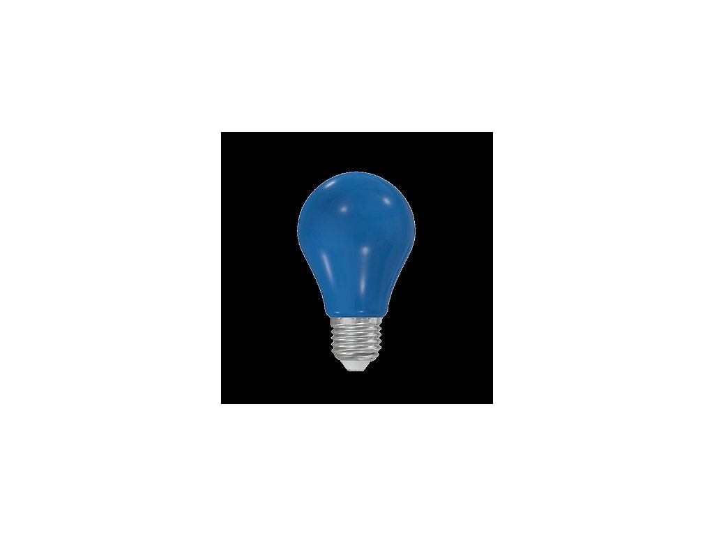 LED žárovka A60 230-240V 5W COLOURMAX E27 MODRÁ