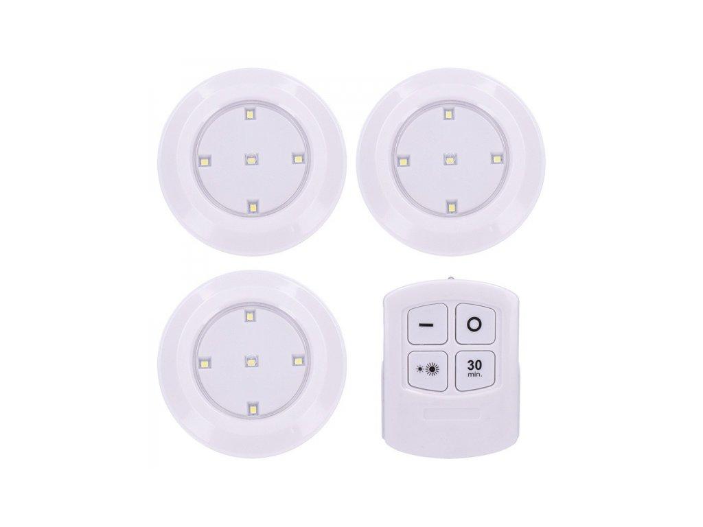 LED světélka s dálkovým ovládáním, 3x 50lm, časovač, bateriové napájení