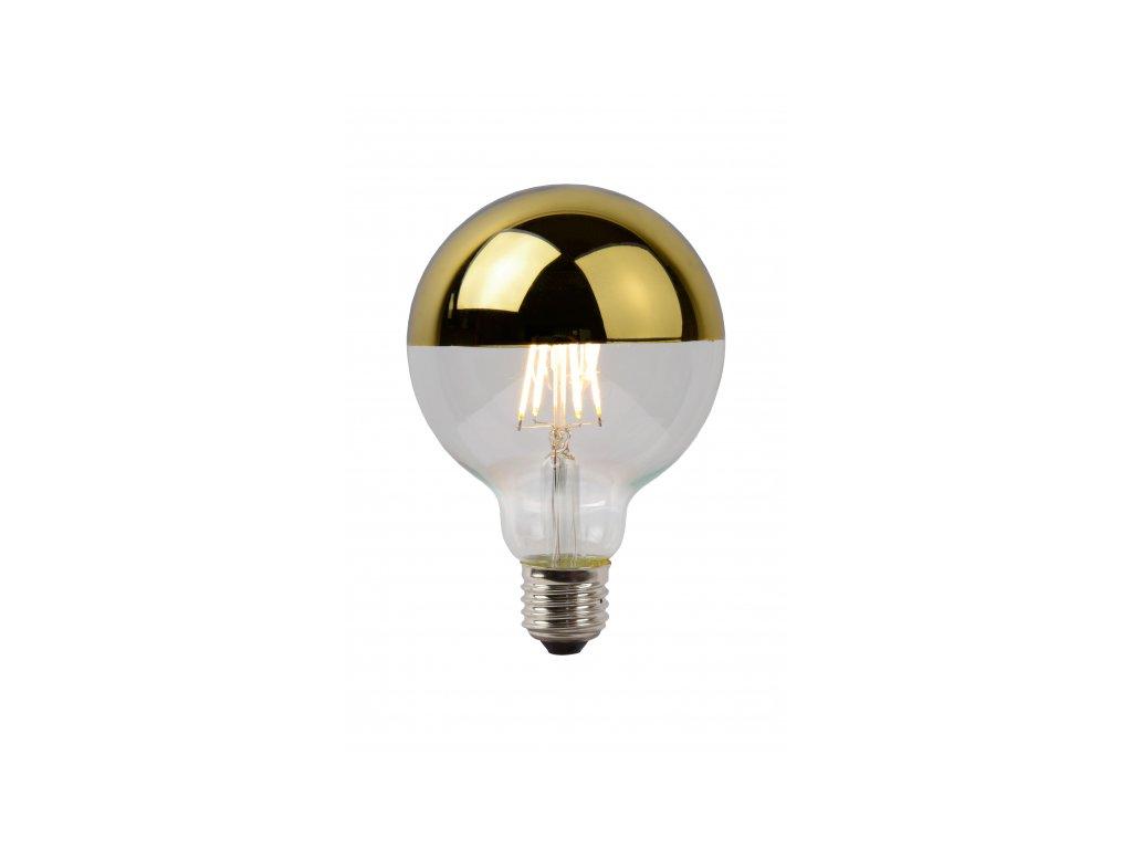 LED GLOBE G125 6W Filament zlatý vrchlík