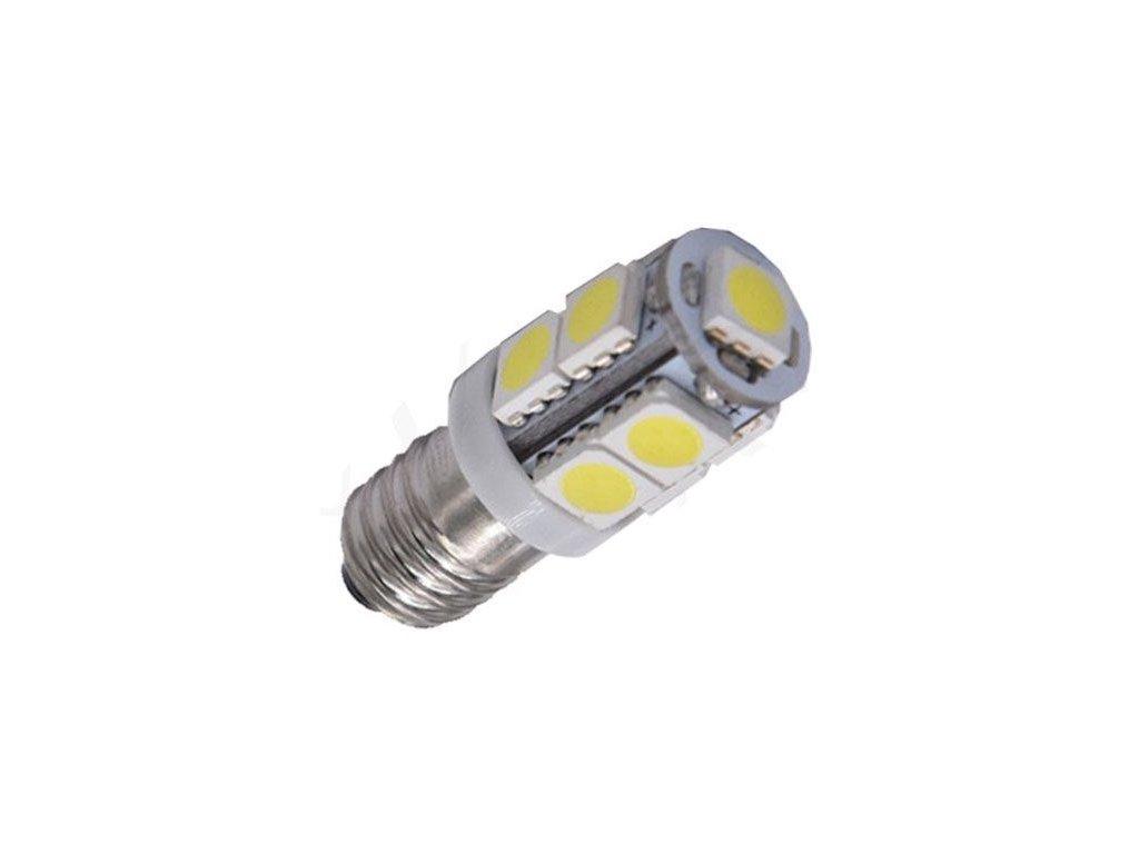 Žárovka LED E10 12V / 2W, bílá, 9xSMD5050