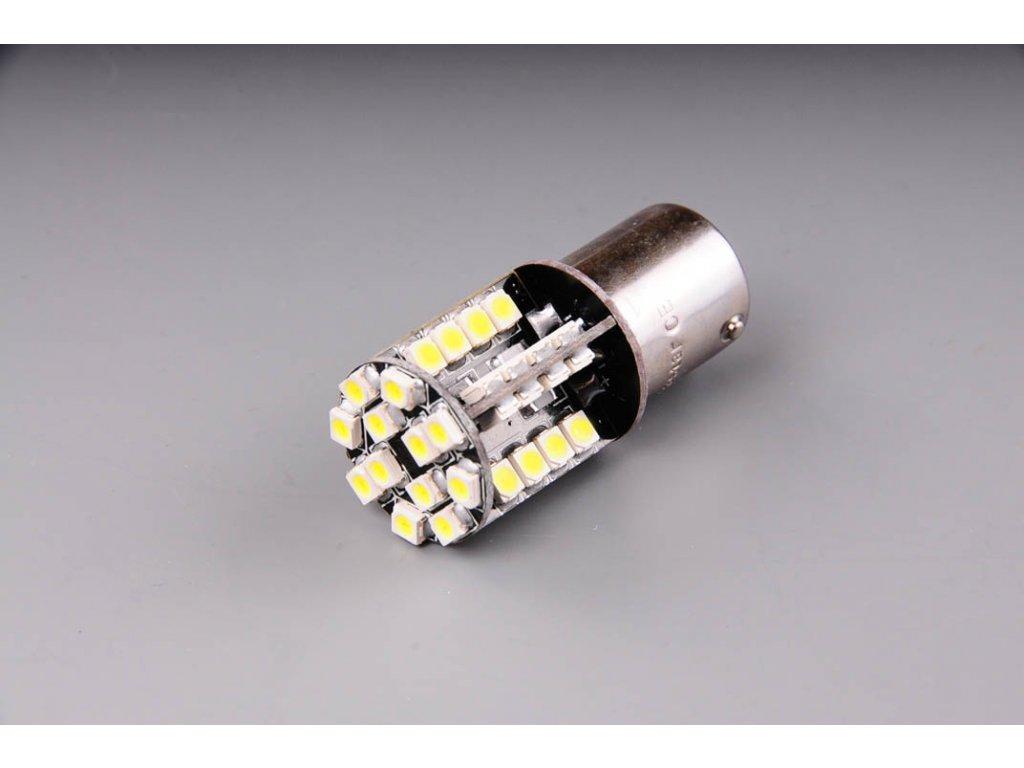 žárovka LED 12V 21W BA15s čirá CANBUS 44LED 1210