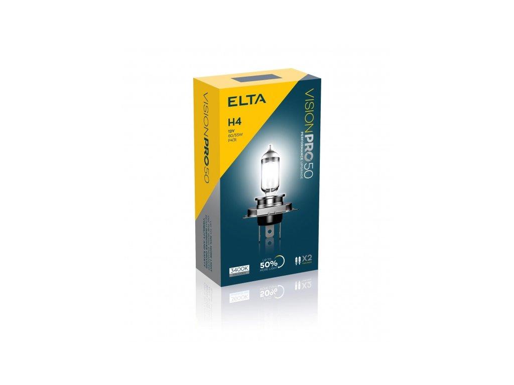 Autožárovky 12V H4 60-55W P43t VisionPro +50%, sada (2ks)