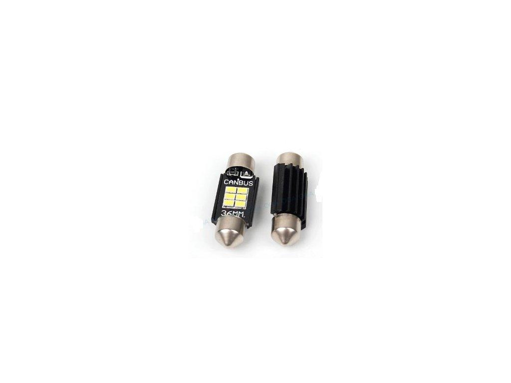 LED žárovka SUFIT 6SMD 12V CANBUS 36mm teple bílá