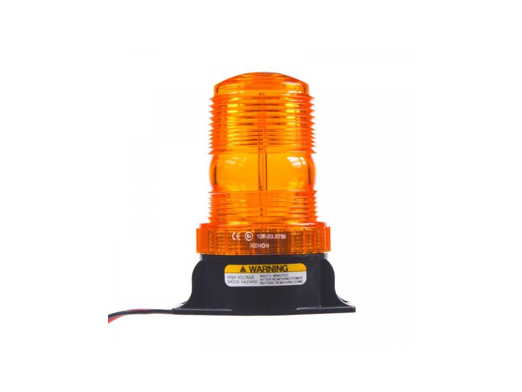 Zábleskový maják 12-24V oranžový ECE R10