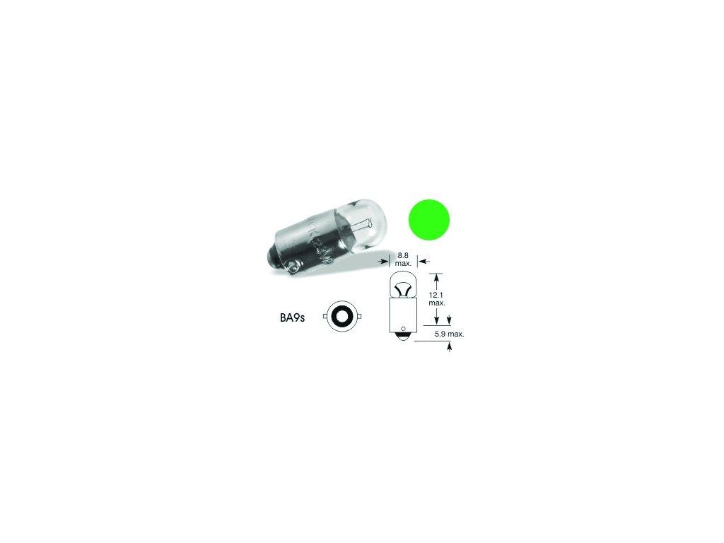 Autožárovka ELTA 24V 2W zelená - Ba9s