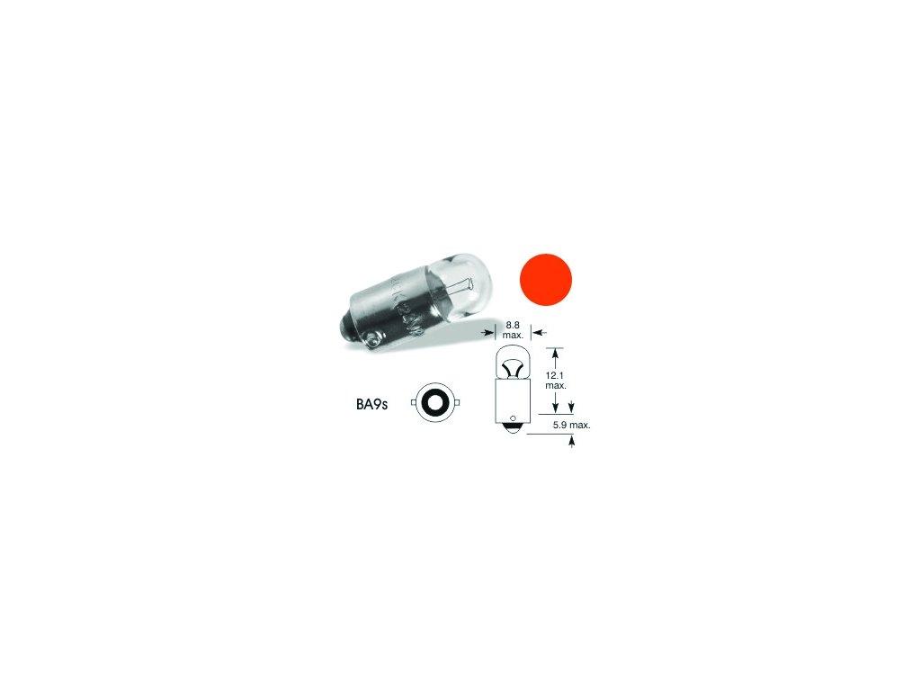Autožárovka ELTA 24V 2W červená - Ba9s
