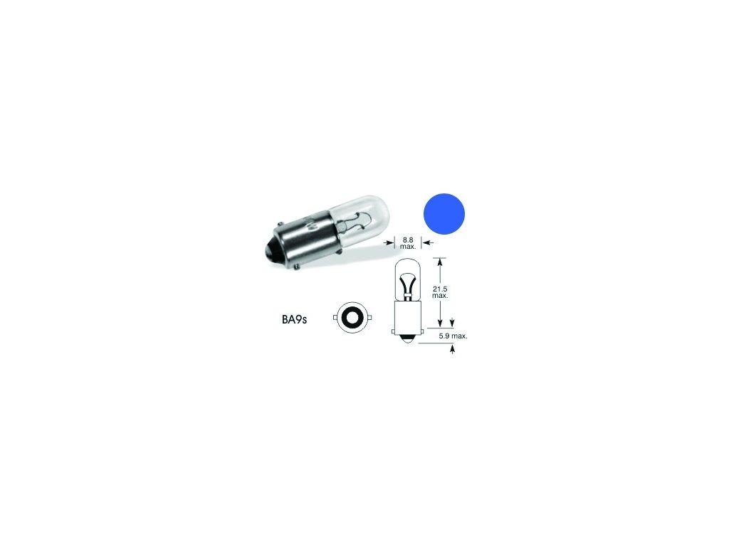 Autožárovka ELTA 24V 4W modrá - Ba9s