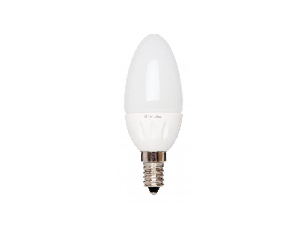 LED žárovka Verbatim E14 3,8W 250lm (25W) typ B matná teplá bílá