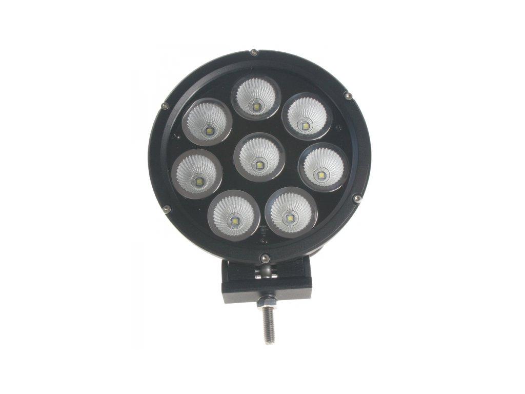 LED světlo na pracovní stroje kulaté 10-30V 80W ECE R112