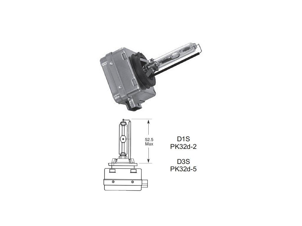 výbojka D3S 85V/35W Lucas - PK32d-5