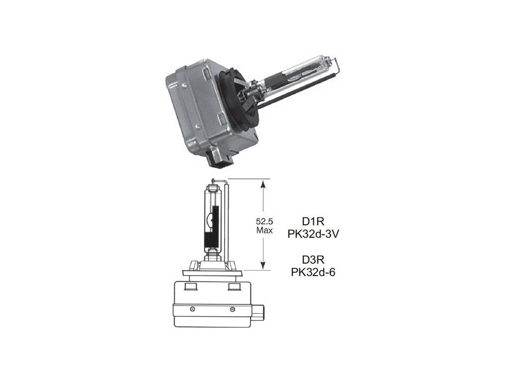 výbojka D3R 85V/35W Lucas - PK32d-6
