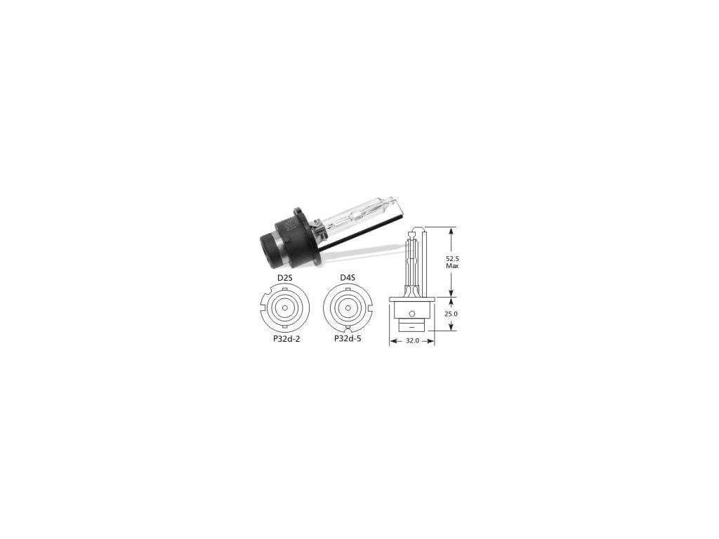 výbojka D4S 85V/35W Lucas - P32d-5