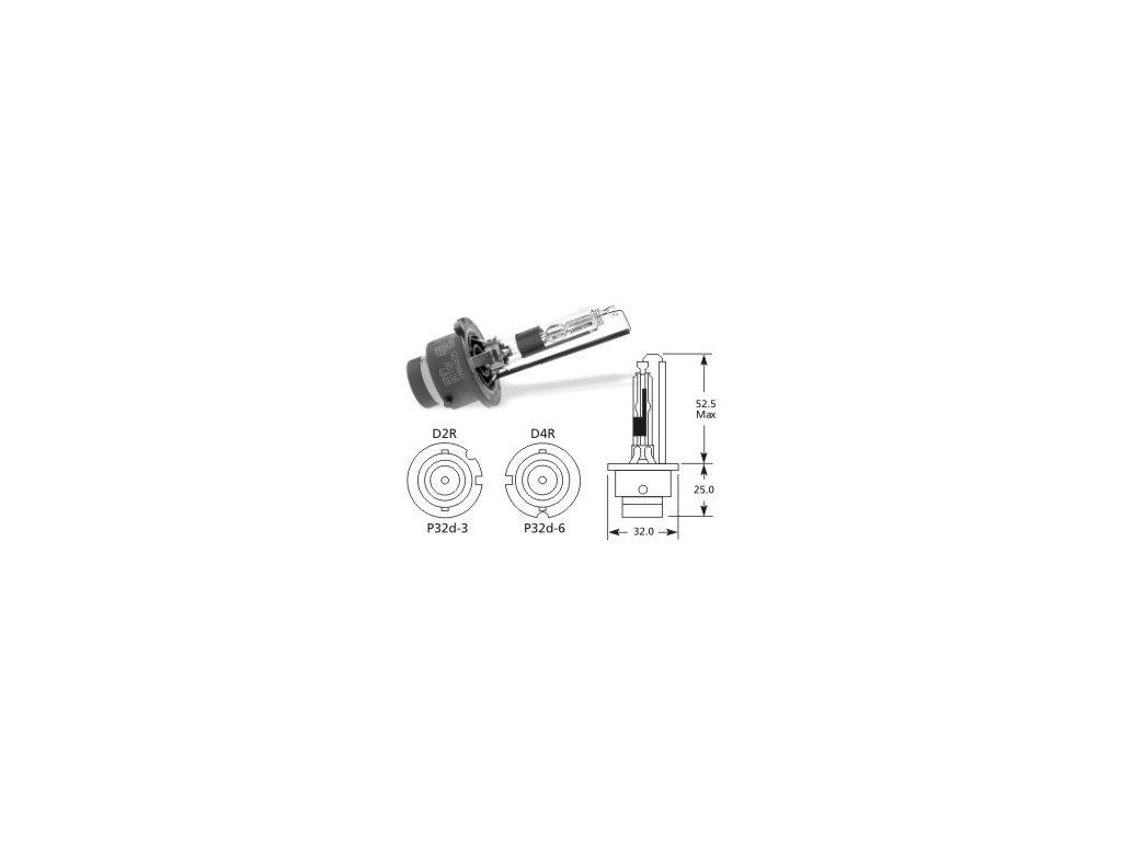 výbojka D4R 85V/35W Lucas - P32d-6
