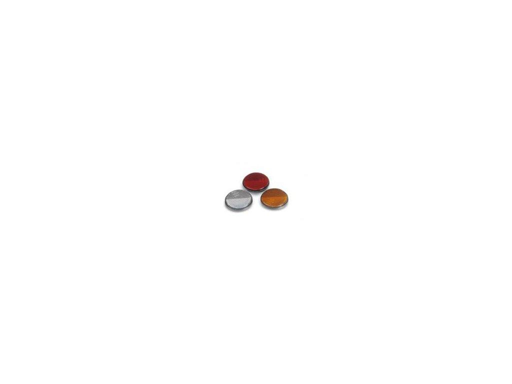 samolepící plastová odrazka červená - 80 mm