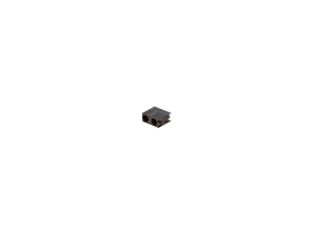 Objímka diody LED 3mm polyamid úhlová černá UL94V-2 H: 9,6mm