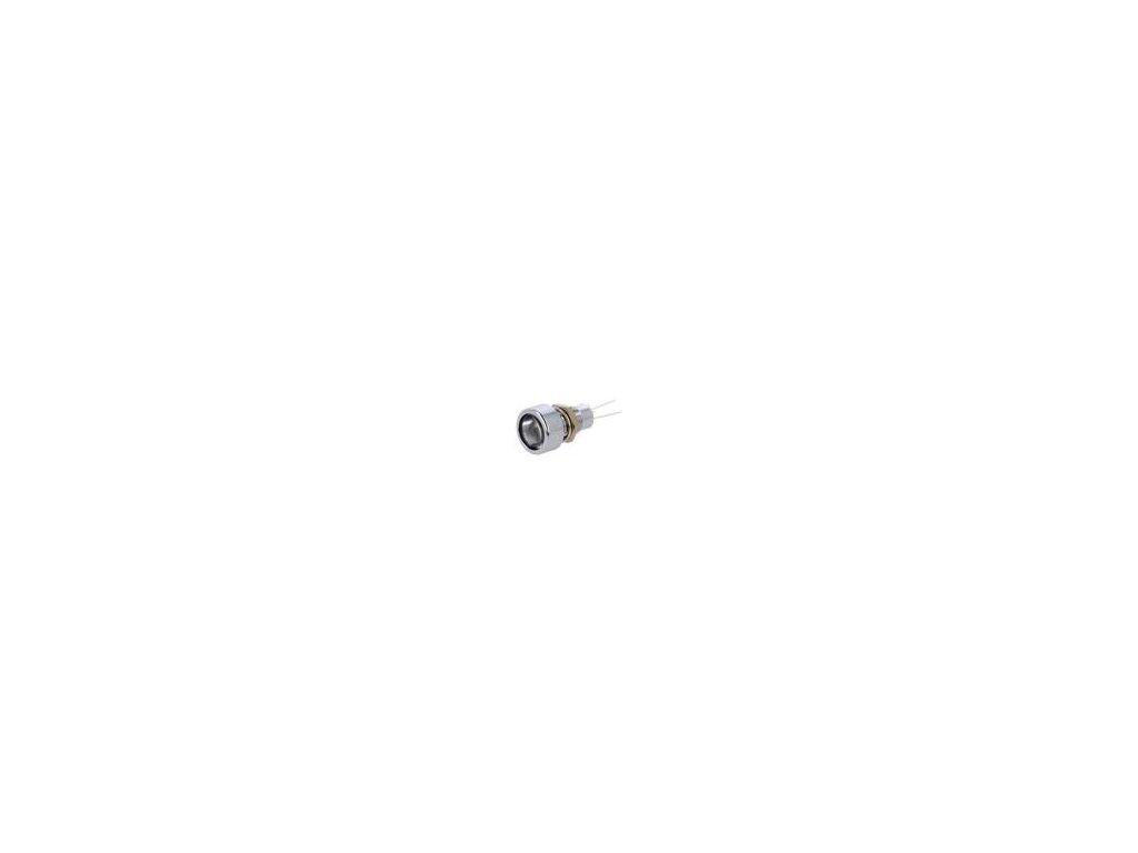 Kontrolka: LED plochá Otv: Ø8,2mm IP67 do plošného spoje mosaz