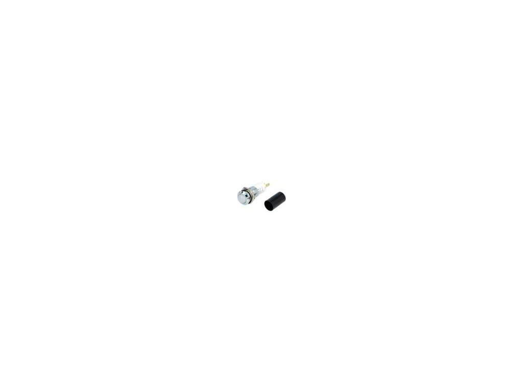 Kontrolka: LED vydutá 230VAC Otv: Ø14,2mm IP67 kov ØLED: 10mm