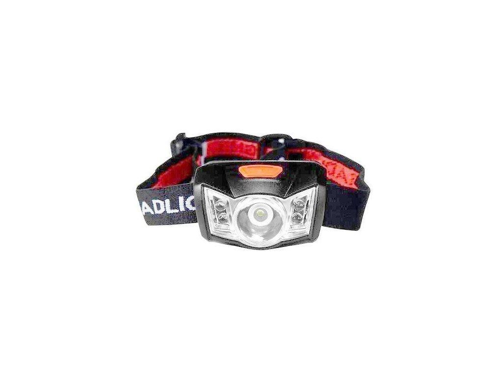 Svítilna LED 1W bílá+4x červená ZT-6615, čelovka, DOPRODEJ