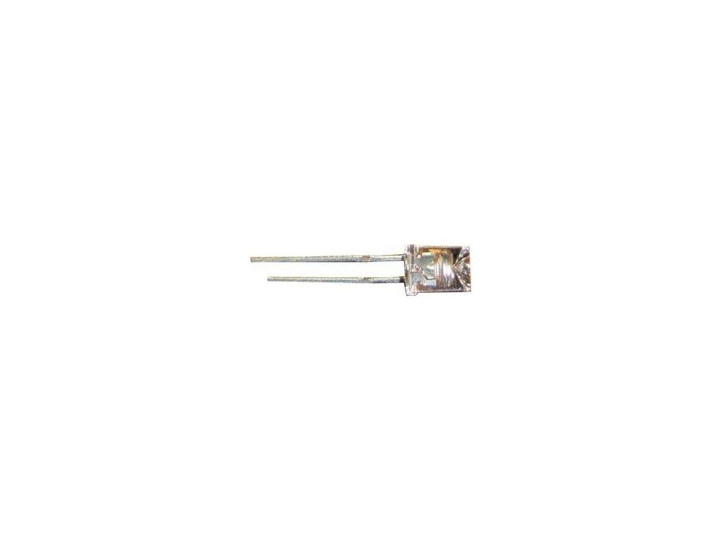 LED 5mm žlutá čirá 800mCd/25mA 110° 2,0V